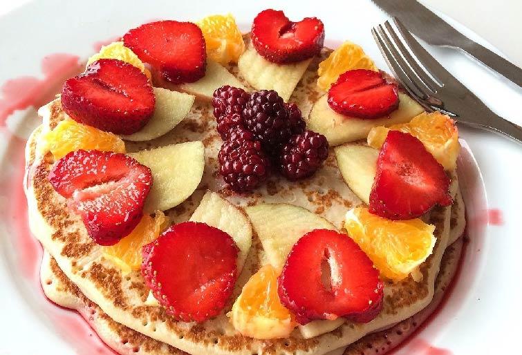 Amerykańskie pancakes na królewskie śniadanie